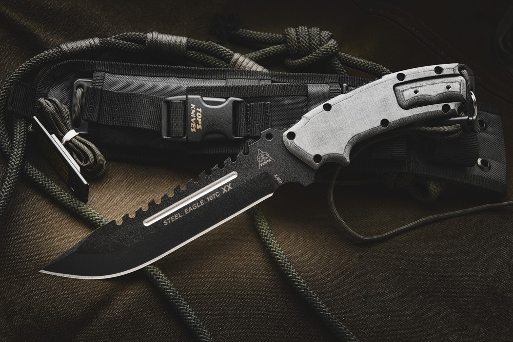 Steel Eagle 107c Xx Knife Tops Knives Tactical Ops Usa