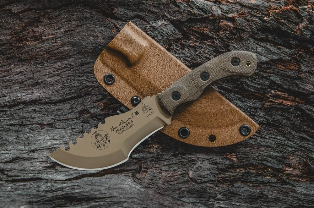 Tom Brown Tracker 4 Coyote Tan Tops Knives Tactical Ops Usa
