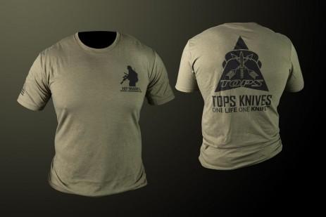 TOPS Logo Tee Olive Drab