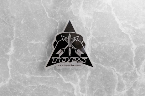 TOPS Logo Silkscreen Transparent Sticker