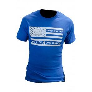 Flag Logo Tee Blue