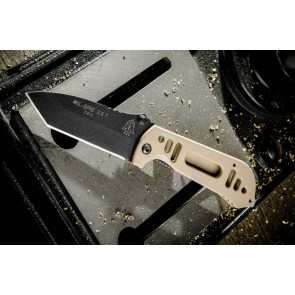 MIL-SPIE 3.5 Tanto Black and Tan Combo