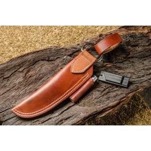 Bushcraft Leather Sheath - Brown