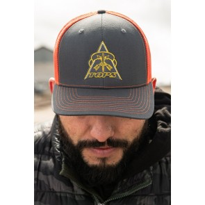 TOPS Hat - Trucker Charcoal/Orange