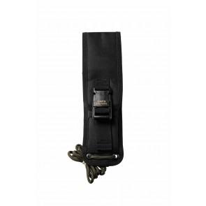 Black Nylon Fold-over Short